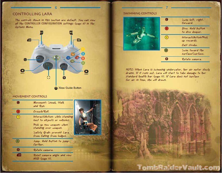 Legend X Box 360 Controls Tomb Raider Vault